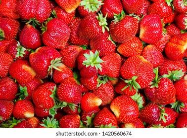 Ripe strawberry. Strawberries background. Strawberry.