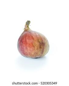 Ripe sweet fig , fresh fruit on white background