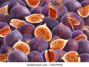 Ripe sweet figs background