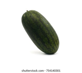 Ripe sweet watermelon isolated on white background