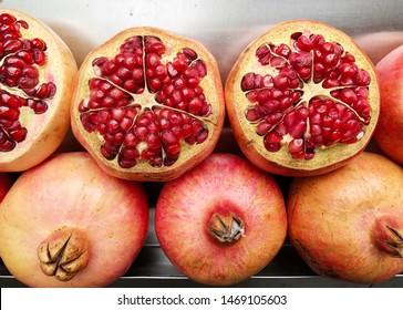 Ripe tasty sweet pomegranate fruit.