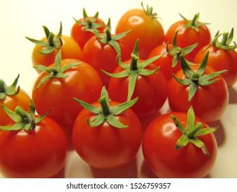 Ripe Tiny Tim cherry tomatoes