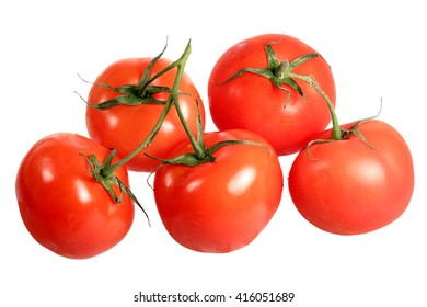 Ripe tomatoes it is isolated on a white background