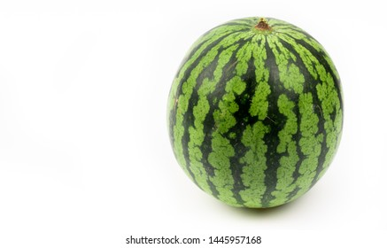 ripe watermelon on white background