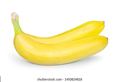 Ripe Yellow Banana Isolated on White Background.