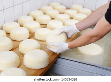 Ripening domestic cheese at the cheese dairy