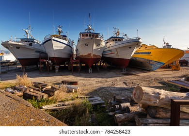 Riposto, Sicily: characteristic fishing boats.