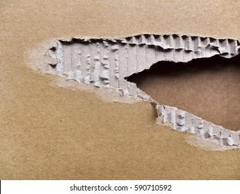Ripped cardboard; background of torn cardboard