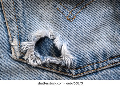 Ripped jeans pocket textures