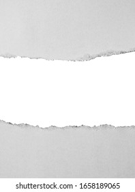 ripped paper isolated on white background