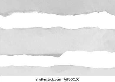 ripped paper isolated on white background with copy space