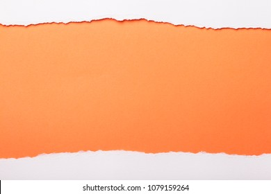Ripped white paper with colored background with space for text,creative idea