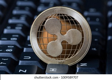 ripple coin on a keyboard