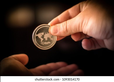 Ripple XRP Coin Money Transfer Crypto Currency