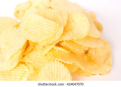 Rippled potato chips