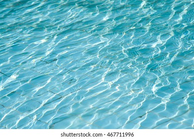 Rippled water detail in swimming pool.