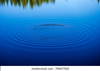 Ripples on clear lake