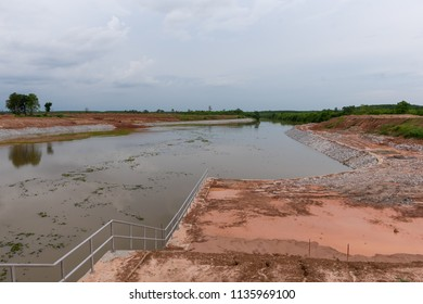 Riprap for used to stabilize cut and fill slopes preventing erosion and other stabilization problems. Construction site. Irrigation structure.