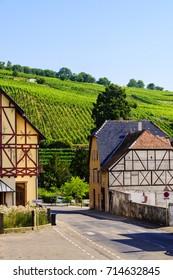 Riquewihr, a medieval village in the heart of the Alsatian vineyard region.