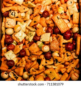 Rise cracker mix traditional Japanese snack food