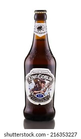 Rishon Le Zion, Israel - April 7, 2013: One bottle of Wychwood King Goblin Special Reserve beer alc.6.6%, 500ml.  An Extraordinary beer of Exceptional quality. Brewed in United Kingdom