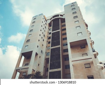 RISHON LE ZION, ISRAEL - August 2, 2018: Residential building  in Rishon Le Zion, Israel.
