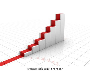 Rising graph - business concept