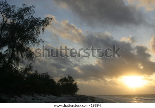 Rising Sun over the Indian Ocean