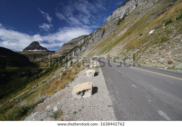 Rising Sun Road in Glacier National Park