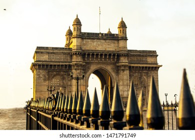Rising Sun-light fallen on Mumbai's most famous heritage monument 'Gate-Way-of-India' in the morning hours.