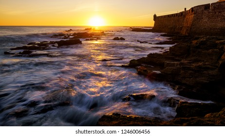 Rising Tide Saint Sebastian Castle Cadiz Spain
