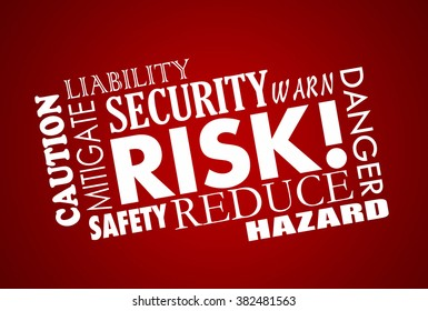 Risk Danger Safety Security Word Collage