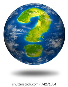 Risk and global uncertainty representing the concept of business and economic health of the planet earth as well as geo political and environmental situation.