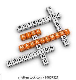 risk management crossword (new business concept)