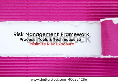 Risk Management Framework Process Tools Techniques Stock Photo Edit
