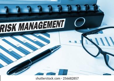 risk management label on business document folder