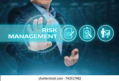 Risk Management Strategy Plan Finance Investment Internet Business Technology Concept.