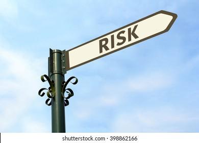 RISK WORD ON ROADSIGN