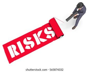 Risks Paint Roller Shows High Danger 3d Rendering