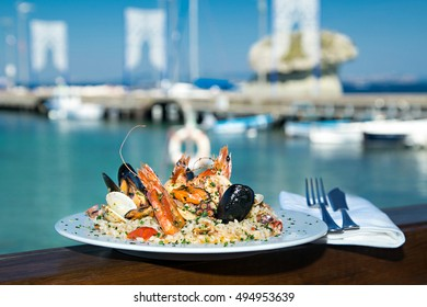 Risotto with seafood mix