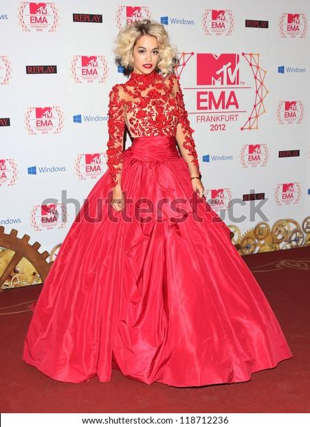 Rita Ora Mtv Emas 2012 Held Stock Photo (Edit Now) 118712236