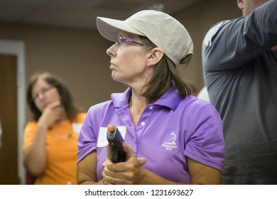 RITTMAN, OH - JUNE 18, 2014. A Principal of a rural, western Ohio school listens to instruction during the three-day FASTER training.