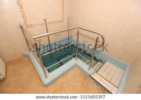 Ritual Bath Used Spiritual Purification Blessing Stock Photo (Edit