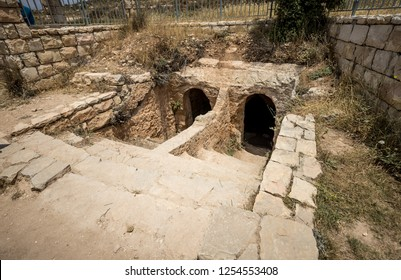Ritual Baths along Way of the Patriarchs or Way of the Fathers. The name is used in biblical narratives that it was frequently traveled by Abraham, Isaac and Jacob. Samaria, Israel