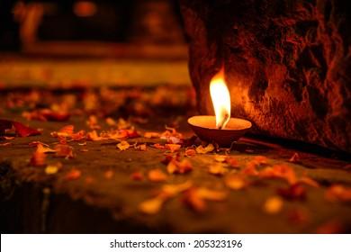 ritual candle, Varanasi, India