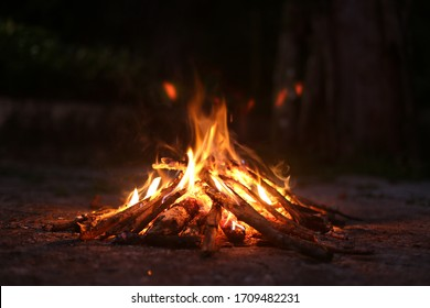 ritualistic bonfire shaman to transmute all that is bad into good