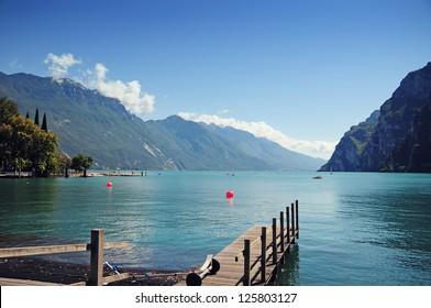 Riva del Garda view at the lake