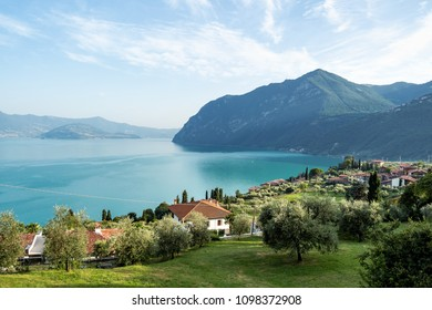 Riva di Solto, Iseo lake, Lombardy in Italy