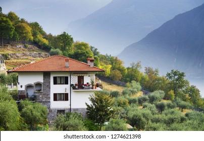 Riva di Solto, Iseo Lake, Italy, Europe.