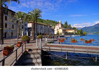 Riva di Solto Iseo lake, Lombardy in Italy